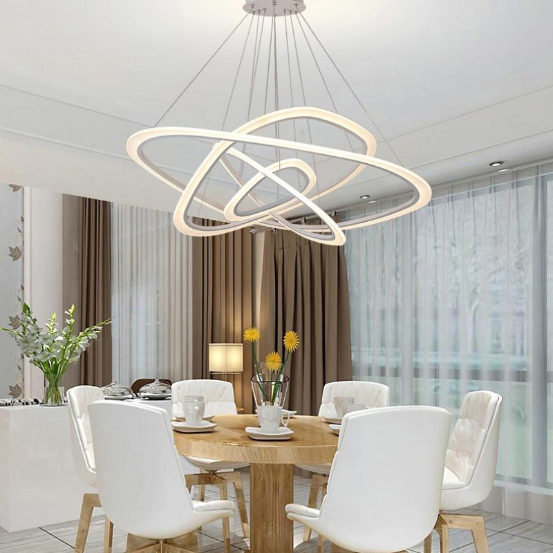 Light Filled Contemporary Living Rooms: Dutti D0001 LED Chandelier Freedom Light Creative