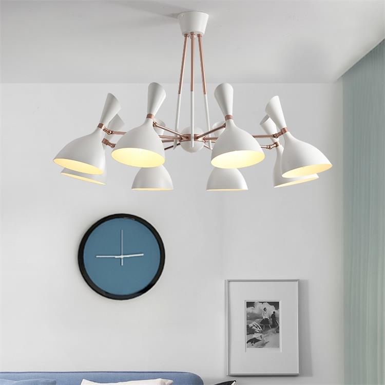 Minimalist Iron Ring Chandelier: Dutti Contemporary LED Chandelier Luxury Living Room