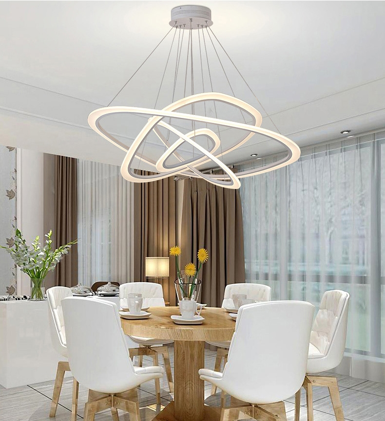 One Dining Room Three Different Ways: Dutti D0001 LED Chandelier Freedom Light Creative