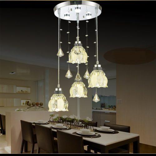 Dutti D0009 LED Chandelier Three European Style Restaurant Lights Crystal  Dining Room Chandelier Modern Minimalist