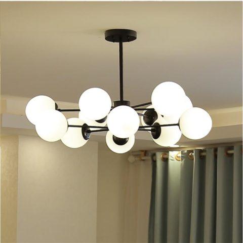 Dutti D0019 Led Chandelier Creative Magic Bean Gl Ball Pendant Light Modern Personality Living Room Lamp