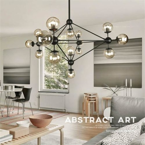Dutti D0017 LED Chandelier Creative Personality Kitchen Island Bedroom  Designer Art Molecular Glass Led Magic Bean