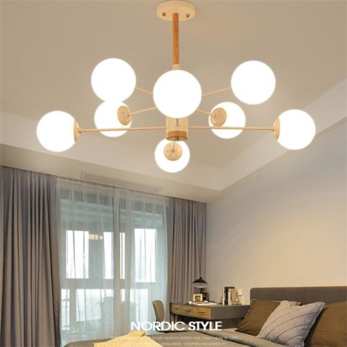 Dutti D0005 Wood LED Pendant Light For Living Room Creative Personality  Restaurant Modern Minimalist Bedroom Lamp