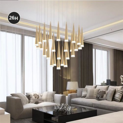 dutti d0032 led chandelier modern minimalist nordic front desk chandelier living room dining room bar cafe - Desk In Living Room