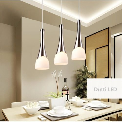 Dutti D0040 LED Chandelier For Kitchen Island Restaurant Hanging Line Lamp Three Head Single Lamps