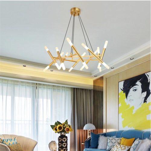 Dutti D48 Nordic LED Chandelier Living Room Modern European Inspiration Light Fixture For Dining Room Creative