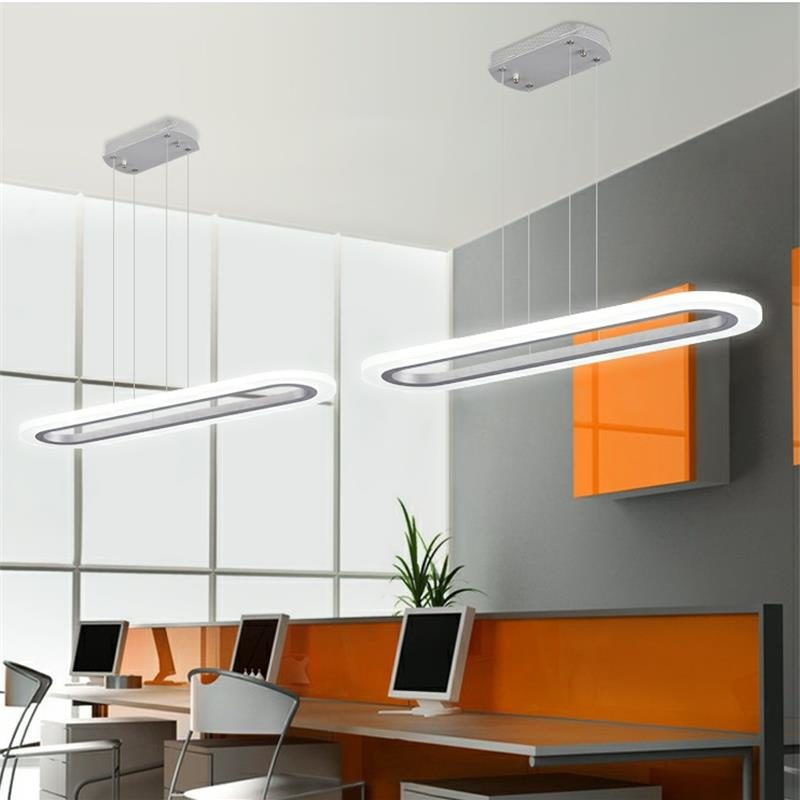 Dutti D0071 Led Chandelier Restaurant Table Acrylic Strip Light Modern Creative Personality Office Work Conference Room